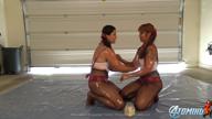 ASIAN GIRLS OIL WRESTLING
