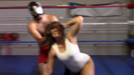 MIXED WRESTLING: Allie Parker vs Slender Masked Man