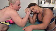 Goddess Anat vs Sheena: Competitive Wrestling, Arm Wrestling, Bondage Wrestling